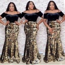 Afrika elbiseler kadınlar için 2020 afrika giyim payetli flanel uzun müslüman elbisesi yüksek kalite moda afrika elbise Lady için