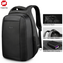 Mochila Laptop-Backpacks Usb-Charger Travel Anti-Theft Multi Hidden School Tigernu Zipper