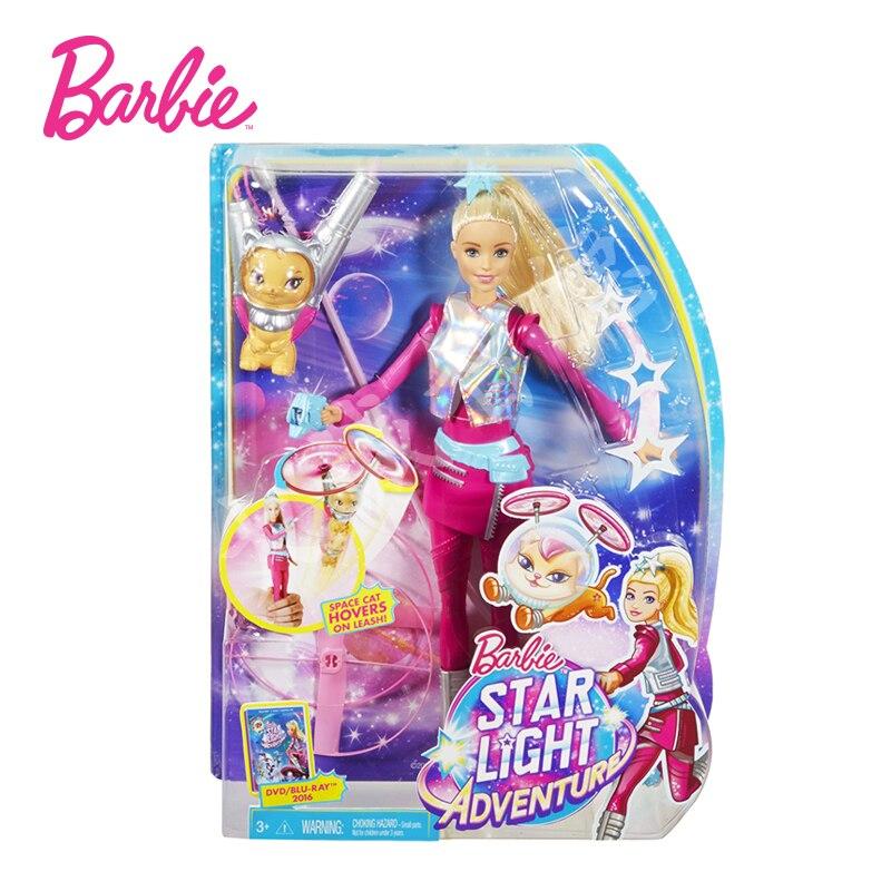 Mattel Echtem Barbie Puppe Sterne licht Abenteuer Barbie Fliegen Pet Set Mädchen Mode Spielzeug Geschenk
