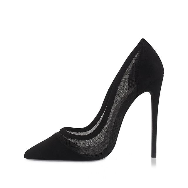 GENSHUO Sexy Mesh High Heels 1