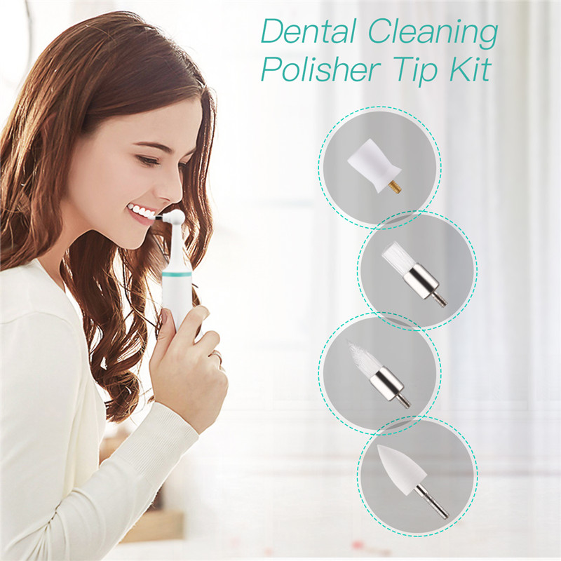 4Pcs/8pcs Dental Polishing Heads For KQ101 Electric Sonic Teeth Whitening Scaler Tooth Calculus Remover Tooth Stains Tartar 38