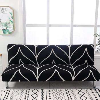 Rozkładaną sofą pokrywa Fold bez ramienia Sofa obejmuje pokrowce na fotele pokrowce na poliester Stretch Furnture obejmuje elastyczny ochraniacz na ławkę pokrowce tanie i dobre opinie lellen CN (pochodzenie) Double seat sofa Three seat sofa Four seat sofa Sofa Bed Cover Rozkładana okładka PRINTED Nowoczesne