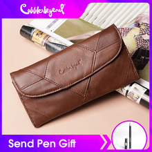 Cobbler Legend Diamonds Patchwork Genuine Leather Wallet Birthday Gift For Woman Purse female Designers Brand Woman Wallet money