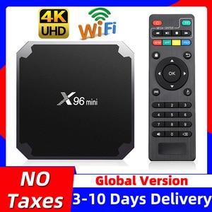 Image 1 - X96ミニX96miniスマートテレビボックスアンドロイド7.1 2ギガバイト/16ギガバイトtvbox × 96ミニamlogic S905W H.265 4 18k 2.4無線lanメディアプレーヤー、セットトップボックス