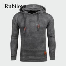 Rubilove Autumn Mens Hoodies Slim Hooded Sweatshirts Coats Male Casual Sportswear Streetwear Brand Clothing US Size S-XXL