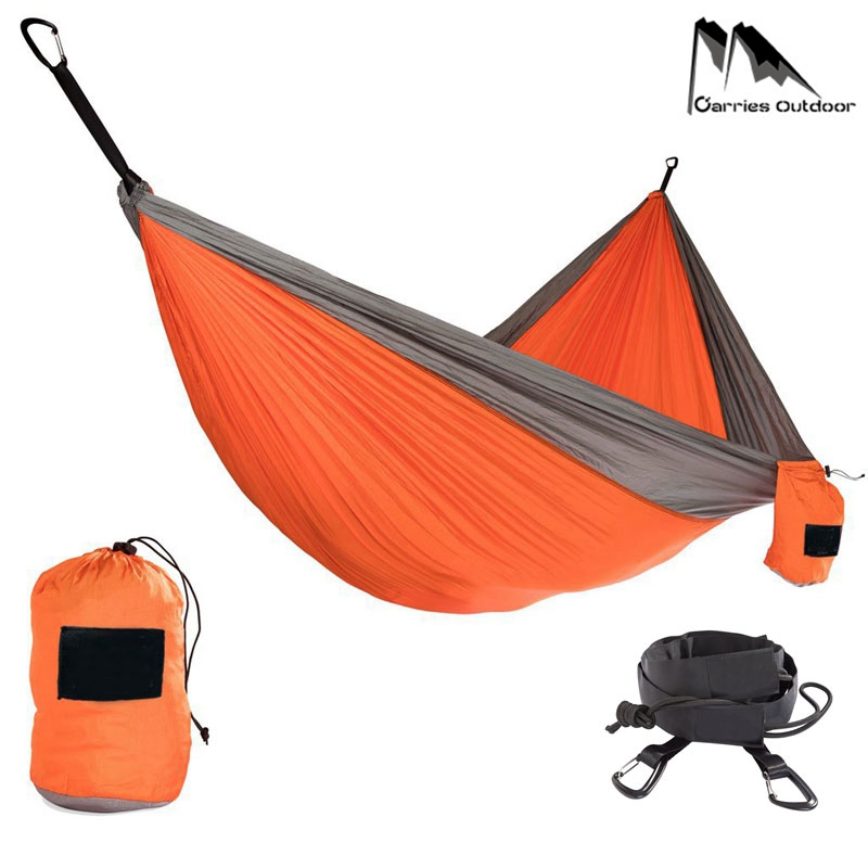 Hiking Camping 320*200cm Hammock Portable Nylon Safety Parachute Hamac Hanging Chair Swing Outdoor Double Person Leisure Hamak