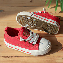 Boys Canvas Sneakers Girls Tennis Shoes Lace-up Kids Footwear Toddler Casual Shoes New Fashion Autumn children s canvas shoes boys shoes girls sneakers 2017 new autumn shoes fashion girls casual shoes