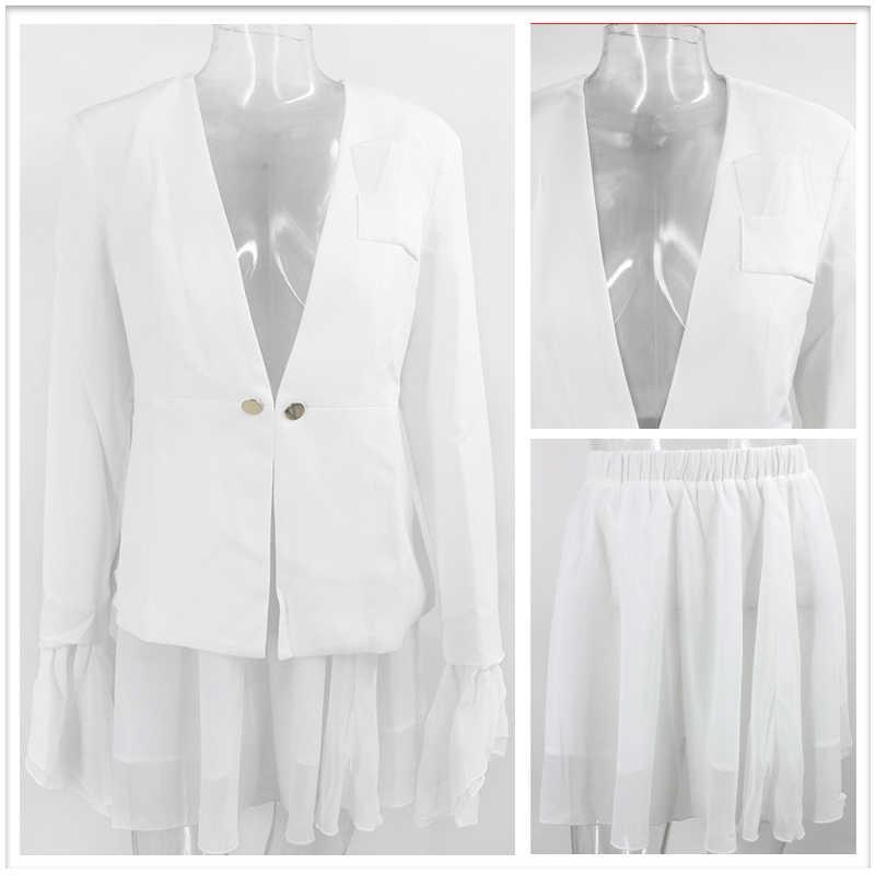 Tobinoone エレガントなツーピースセット女性ブレザースカートスーツ秋カジュアルストリート女性スーツセットシックな女性ブレザーセットスーツ