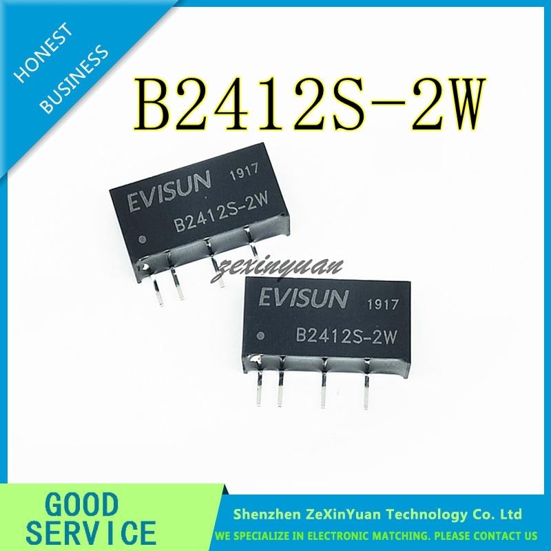 5PCS/LOT B2412S-2W B2412S- B2412S DC-DC Buck Module 24V To 12V Isolated Power Module 2W