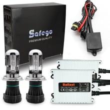 1 set Safego 12V AC 35W H4-3 Bi-xenon H4 hi/lo kit HID 6000K 8000K 4300K 10000K BI-XENON for car replacement headlight bulbs
