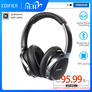 Image 1 - EDIFIER W860NB Bluetooth Earphone Active Noise Canceling ANC Bluetooth 4.1 Touch Control Double Mic Support aptX for xiaomi IOS