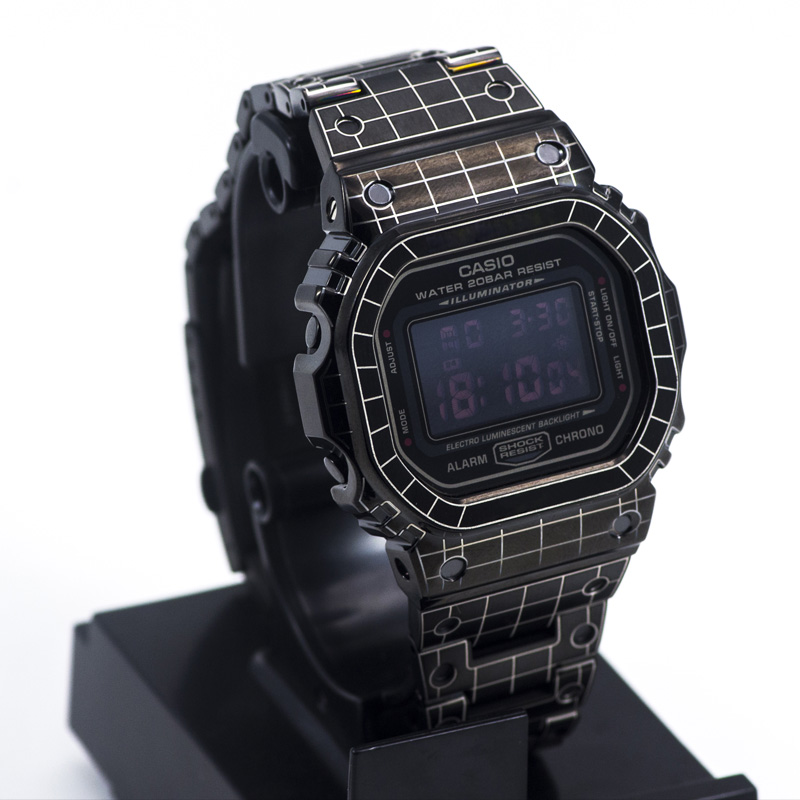Grid Pattern Bracelet For Casio <font><b>G</b></font>-<font><b>shock</b></font> GWM-B5000 <font><b>DW</b></font>-<font><b>5600</b></font> Stainless Steel Watch Band Bezel For Casio <font><b>5600</b></font> 5610 Watch Case image