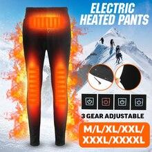 Женские мужские зимние походные брюки с подогревом, Тонкие штаны с подогревом и зарядкой от usb, штаны для катания на лыжах с электрическим подогревом