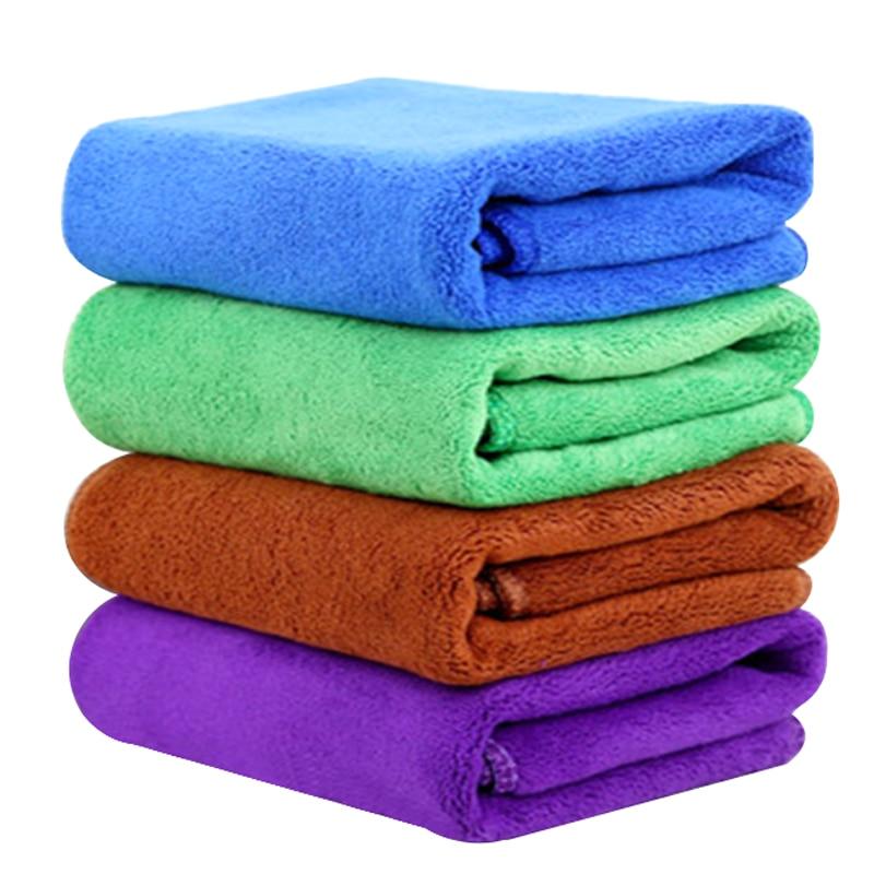 30*70cm araba yıkama havlu temizleme aracı Ultra yumuşak mikrofiber bez araba balmumu cilası araba-styling oto bakım detaylandırma 4 renk