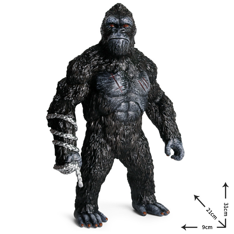 31x21cm Animal King Kong Skull Lsland Gorilla Orangutan Monkey PVC Action Figure Cute Collection Animal Model Toys