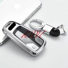 Автомобильный чехол для ключей, ТПУ, стильный ключ для автомобиля, чехол для AUDI A4 B9 Q5 Q7 TT TTS 8S, автомобильные аксессуары без ключа
