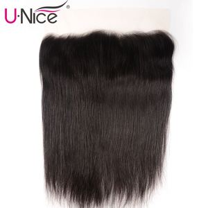Image 3 - Unice Hair 13*6 Transparent Lace Frontal 8 18 Inch straight Human Hair Pre Plucked Brazilian Remy Hair Natural Color