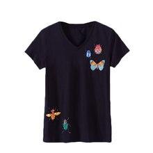 Женская футболка с короткими рукавами облегающий хлопковый топ