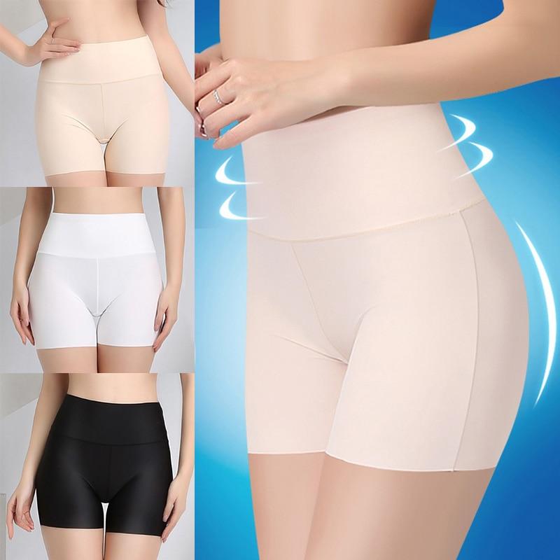 Summer Women Safety Shorts Pants Seamless Thin Ice Silk High Waist Panties Seamless Anti Emptied Boyshorts Girls Underwear 1