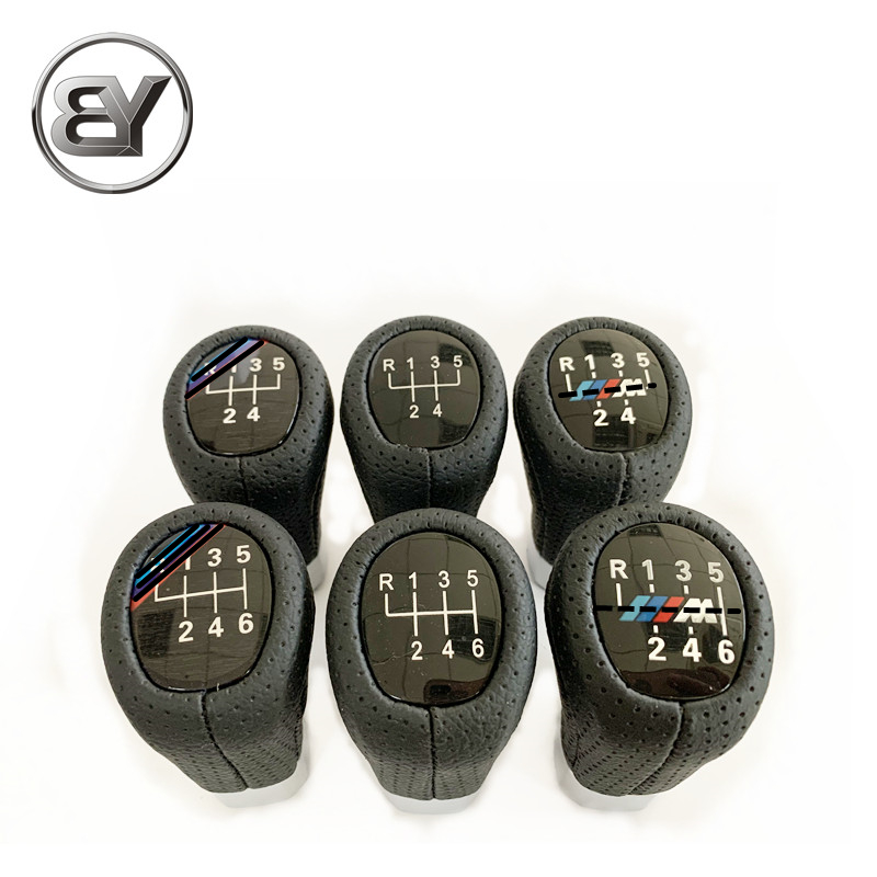 BTAP кожаный Автоматический переключатель рукоятки рычага переключения передач рукоятка рычага гандбол ForBMW E30 E32 E34 E36 E39 E46 E53 E60 E63 E83 E84 E87 E90 5or6 С...