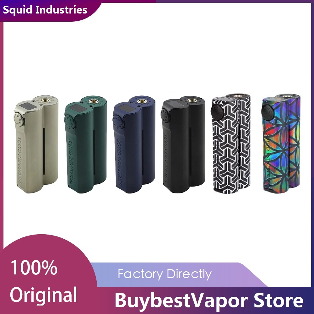 Heavengifts Squid Industries Double Barrel V3 150W VW MOD With Flat Top OLED Display No 18650 Battery Box Mod Vs Drag 2 / Shogun