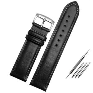Image 5 - Bracelet de rechange Citizen AT8020 JY8078, en cuir véritable, 23mm, bleu bracelet de montre, avec bracelet à boucle pliable