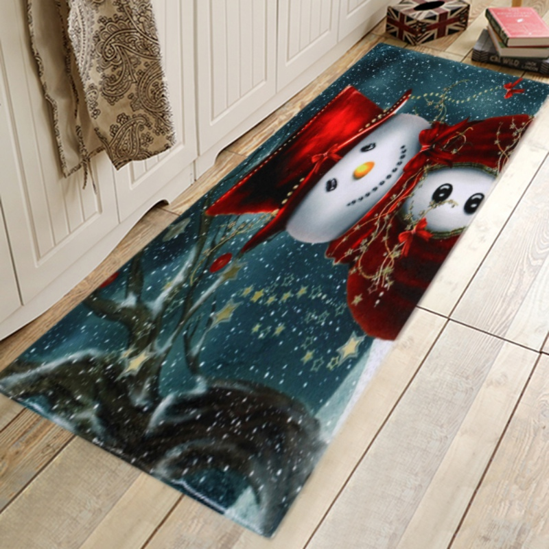 Christmas Snowman Area Rugs Carpet