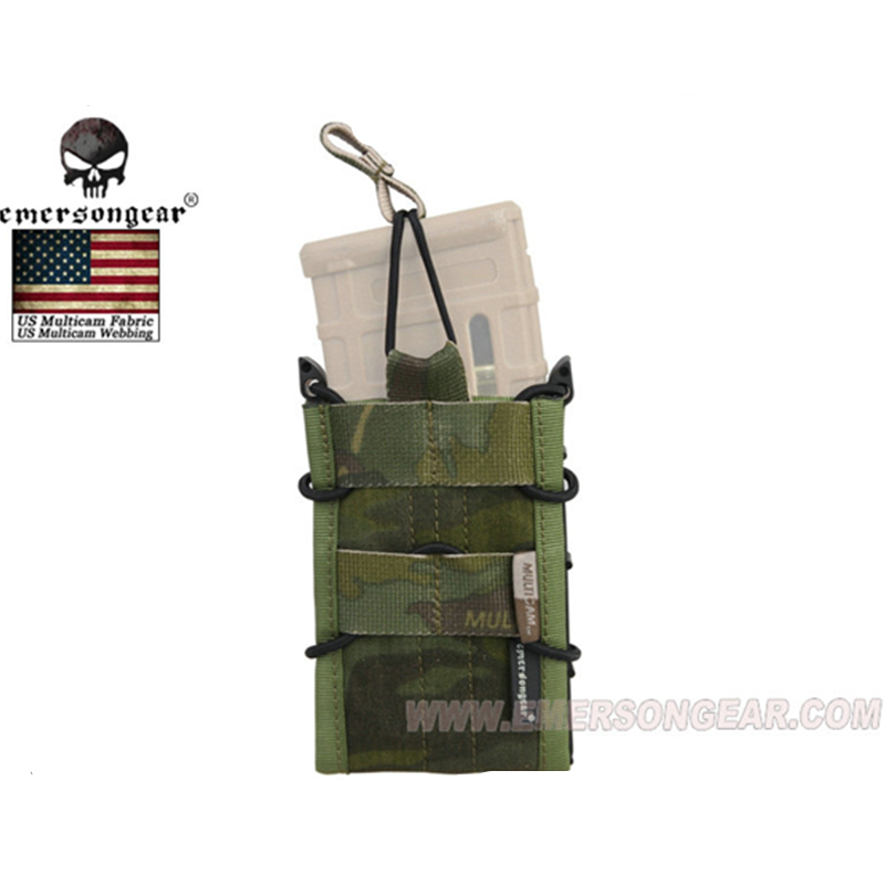 Buy emersongear Rifle Magazine Pouch Tactical Molle Portable Rifle Modular Single Bomb Pouch For 556 M4 M16 AR15 SR52 P-MAGS M1A1 for only 15.24 USD