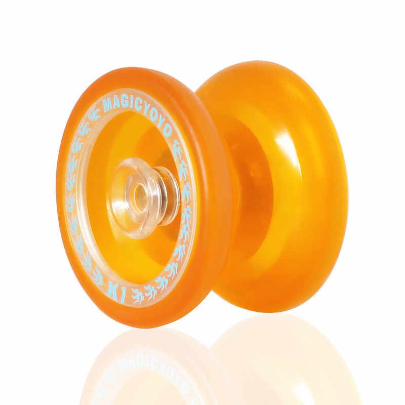 ขายร้อนใหม่อัพเกรด Yo yo ของเล่นคลาสสิกเด็ก Professional Magic Yoyo K1 Spin Yoyo 8 Ball KK แบริ่ง spinning String