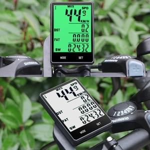 """Image 5 - 2.8 """"Ciclocomputer Senza Fili Wired Bike Computer Impermeabile Tachimetro Contachilometri Cronometro Per Accessori Per il ciclismo 2.0 opzione"""