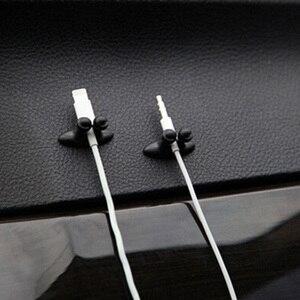 Image 2 - Soporte para cables de coche, fijador de clips multifuncional, organizador de cables de carga para coche, Clip para cables de auriculares de alta calidad, 8 Uds.