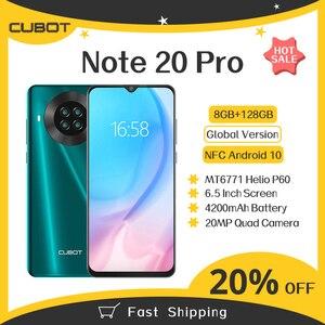 """Image 1 - Cubot Note 20 Pro Phiên Bản Toàn Cầu NFC 8GB + 128GB Điện Thoại Thông Minh 6.5 """"Android 10 4200MAh Dual SIM Điện Thoại 4G LTE Celular"""