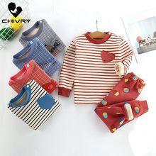 2020 New Kids Boys Girls Pajama Sets Cartoon Print Long Sleeve Cute T-Shirt Tops with Pants Toddler Baby Autumn Sleeping Clothes цена 2017