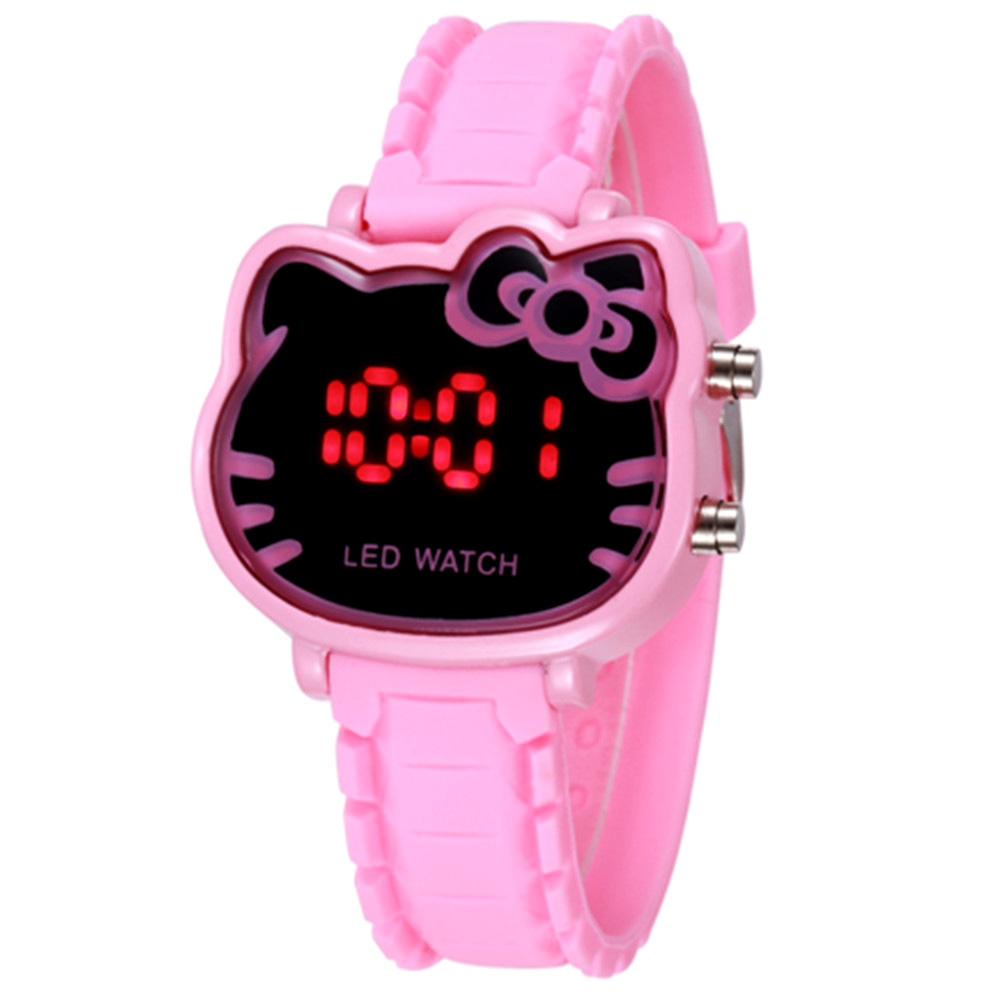 Hello Kitty Watches Kids Cartoon Digital Watch For Girls Kids Lovely Silicone Children Wristwatch  Child Clock Relogio Infantil