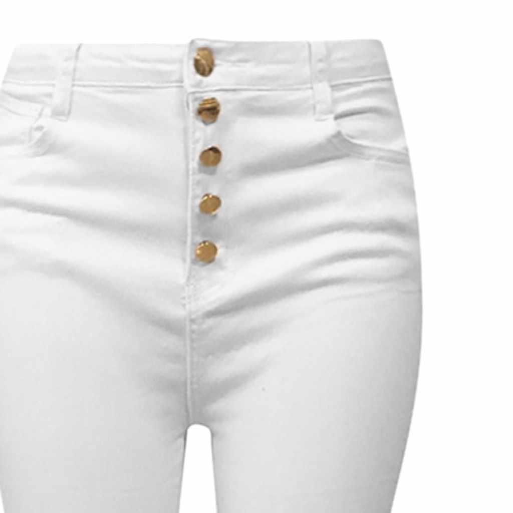 Stijlvolle Vrouwen Flare Broek Wilde Sexy Jeans Broek Wijde Pijpen Herfst Elegant Lady Hoge Taille Denim Broek Slim Skinny Bellbottoms