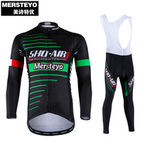 2020 MERSTEYO Cycling Jersey sets Long sleeveCycle clothes BIB short Bicycle Sportswear MTB sport functional