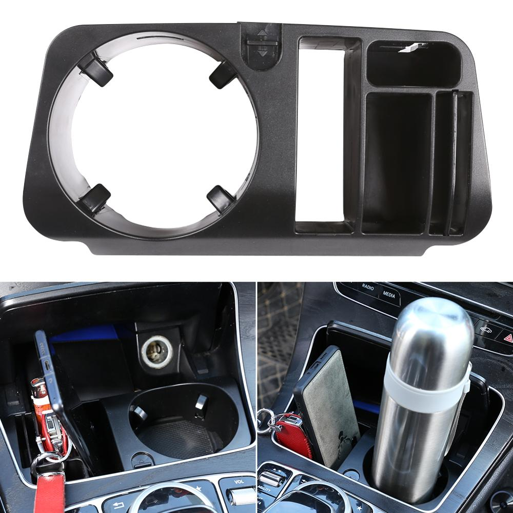 Car-Styling Plastic Central Console Storage Box Cup Holder For Mercedes Benz C Class W205 GLC-Class X253 E Class W213