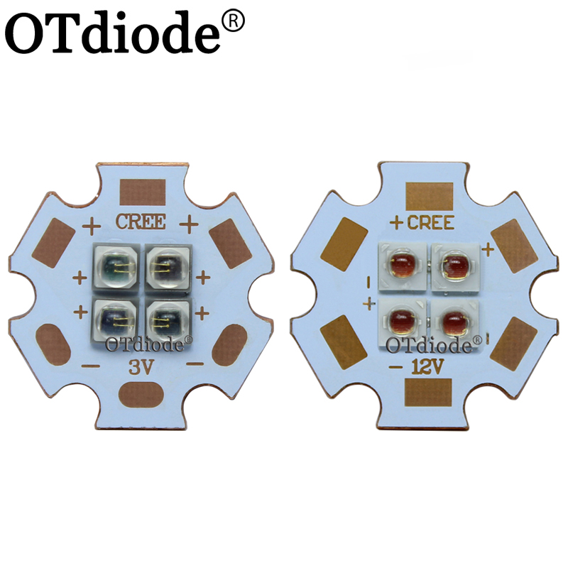 10W EverLight 3535 4Chips 4-LEDs 12W 3V6V12V Infrared IR 850nm 940nm 730nm High Power LED Emitter Diode On 20mm Copper Board