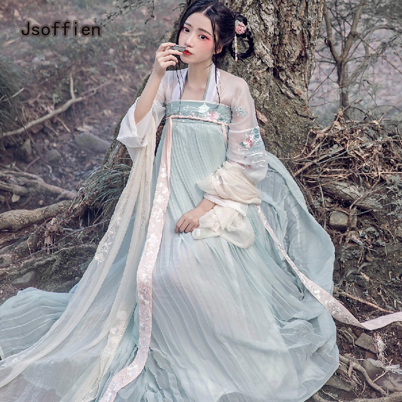 Chinese Folk Dance Costume For Women Traditional Hanfu Female Tang Dynasty Princess Dress Lady Han Dynasty Fairy Dance Clothing