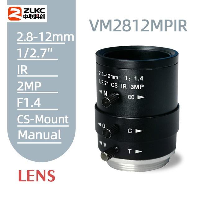 חדש CS הר FA עדשת 3.0 מגה פיקסל 2.8 12mm Varifocal ידני איריס עדשת IR פונקצית אבטחת מצלמה עדשה