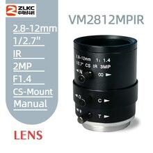 Nuovo Cs Mount Fa Lens 3.0 Megapixel 2.8 12 Mm Varifocale Manuale Diaframma Ir di Sicurezza di Funzione Della Macchina Fotografica lente