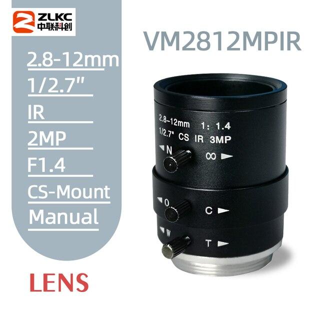 Yeni CS montaj FA Lens 3.0 megapiksel 2.8 12mm Varifocal manuel Iris Lens IR fonksiyonu güvenlik kamera lens