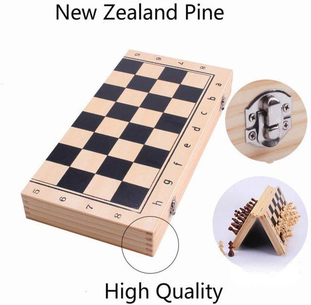 39CM grand tournoi magnétique Staunton jeu d'échecs en bois avec Chesspiece artisanal et fentes de rangement 2 reine supplémentaire 4