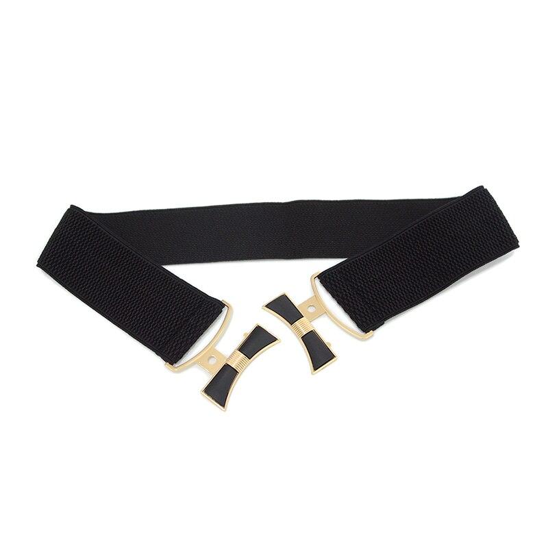 Luxury Brand Fashion New Women's Double Button Waist Seal Women's Dress Elastic Decorative Desinger Belt Bg-1620