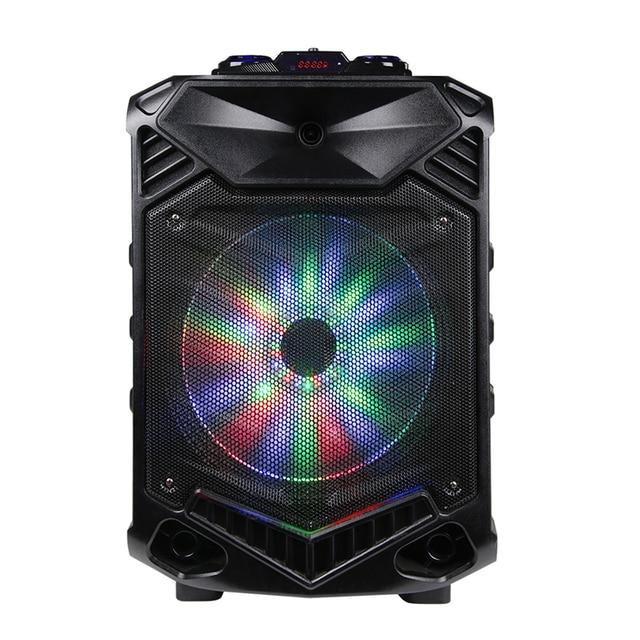 Shinco Portable Bluetooth Karaoke DJ Speaker System High Power 12-inch Woofer Trolley Speaker with Wireless Microphone 2