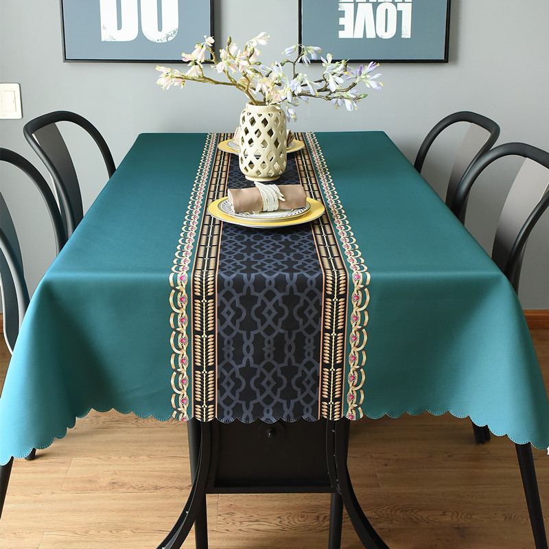 Waterproof Table Cloth Rectangular Tablecloth For Wedding Party Hotel Table Cover With Geometric Patterns Creative Tablecloths
