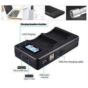 Image 3 - PALO LPE5 LP E5 LP E5 chargeur de batterie LCD double fente USB chargeur pour Canon EOS 450D 500D 1000D baiser X3 baiser F rebelle Xsi caméra