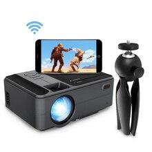 Caiwei C180AB 1280 × 720 1080pアンドロイドwifi proyectorポータブルledビーマーワイヤレスミニプロジェクタースマートフォンホームシネマ