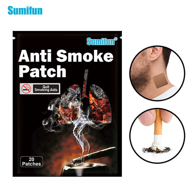 Sumifun 20 шт./пакет курить пластырь анти сигареты Product100 % натуральный курения Pad китайский из трав, медицинская штукатурка