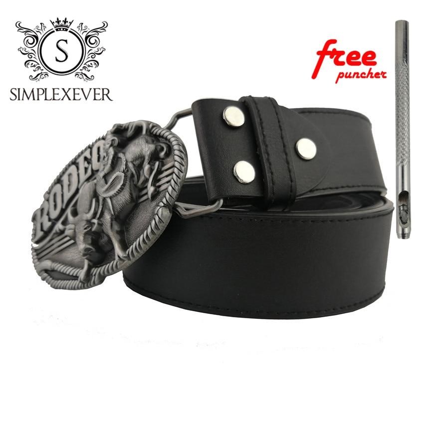 Rodeo Bull Cowboy Belt Buckle Head Suit For 3.8-4cm Belt Western Cowboy Dress Belt Buckle For Men With Belt